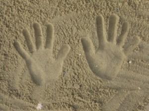 Empreintes de mains !
