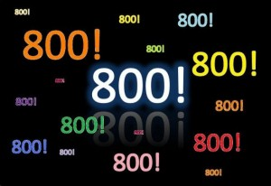 800 !