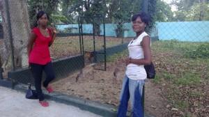 Au zoo - Christelle et Marlène !