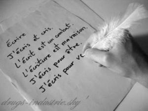 J'écris...